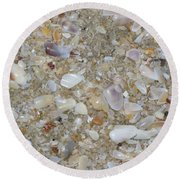 Crystal Shells Round Beach Towel