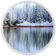 Crystal Silent Round Beach Towel