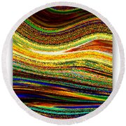 Crystal Waves Abstract 1 Round Beach Towel