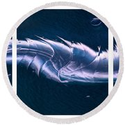 Crystalline Entity Triptych  Round Beach Towel