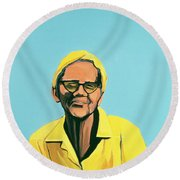 Cuban Portrait #13, 1996 Round Beach Towel