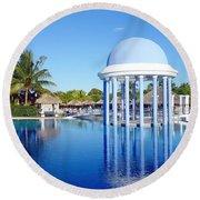 Cuban Resort Round Beach Towel
