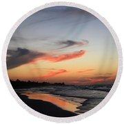 Cuban Sunset Round Beach Towel
