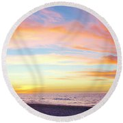 Cuban Sunset Round Beach Towel