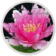 Cubed Lily Round Beach Towel