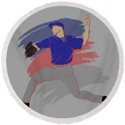 Cubs Shadow Player Round Beach Towel