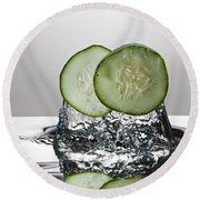 Cucumber Freshsplash Round Beach Towel