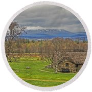 Culloden Moor And Old Leanarch Round Beach Towel