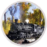 Cumbres And Toltec Railroad Round Beach Towel