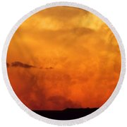 Cumulus Congestus Sunset Round Beach Towel