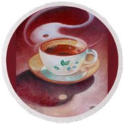 Cup Of Tea Round Beach Towel