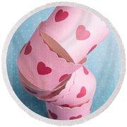 Cupcake Love Round Beach Towel