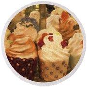 Cupcakes Round Beach Towel
