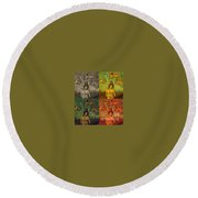Cupid Persecuted Round Beach Towel by John Malone