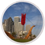 Cupids Arrow San Francisco Round Beach Towel