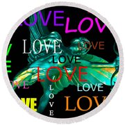 Cupids Love Round Beach Towel