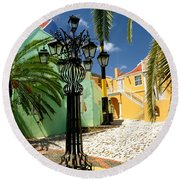 Curacao Colorful Architecture Round Beach Towel