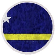 Curacao Flag Round Beach Towel