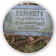Curiosity Round Beach Towel