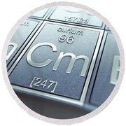Curium Chemical Element Round Beach Towel