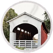 Currin Covered Bridge Round Beach Towel