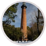 Currituck Beach Lighthouse Corolla Nc Color Img 3772 Round Beach Towel