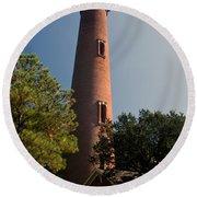 Currituck Beach Lighthouse Round Beach Towel