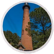 Currituck Lighthouse Round Beach Towel