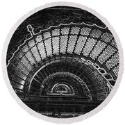 Currituck Lighthouse Stairs Round Beach Towel