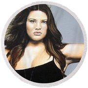Curvy Beauties - Tara Lynn Round Beach Towel