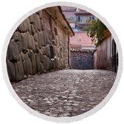 Cusco City Street Round Beach Towel