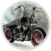 Custom Bobber Round Beach Towel