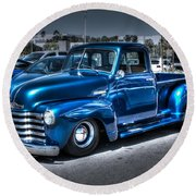 Custom Chevy Pickup Round Beach Towel