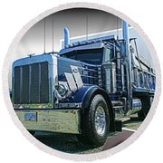 Custom Dump Truck Round Beach Towel