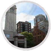 Custom House - Boston Round Beach Towel