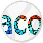 Customized Baby Kids Adults Pets Names - Jacob 2 Name Round Beach Towel