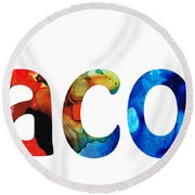 Customized Baby Kids Adults Pets Names - Jacob 5 Name Round Beach Towel