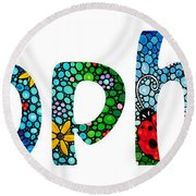 Customized Baby Kids Adults Pets Names - Sophia Name Round Beach Towel