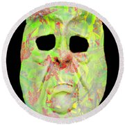 Cut Out Mask Round Beach Towel