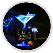 Cutters Lounge And Cigar Bar Round Beach Towel
