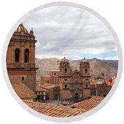 Cuzco Plaza Del Armas Round Beach Towel
