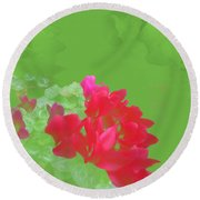 Cyclamen Dream Round Beach Towel