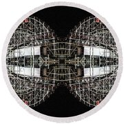 Cyclone Abstract Round Beach Towel
