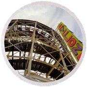 Cyclone Roller Coaster Round Beach Towel