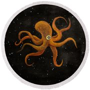 Cycloptopus Black Round Beach Towel
