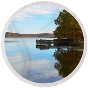 Cypres Reflections Round Beach Towel