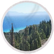 Cypress 2 Round Beach Towel