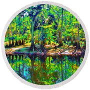 Cypress Coast Round Beach Towel