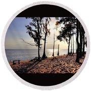 Cypress Shore Round Beach Towel