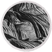 Cypress Tree Abstract Round Beach Towel
